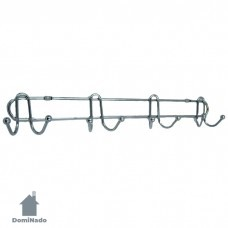 Вешалка на 8 крючков из стали с хромовым покрытием Арт.MU2-15