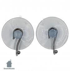 Набор крючков на присоске 2 шт.из стали с хромовым покрытием Арт.W2529-2