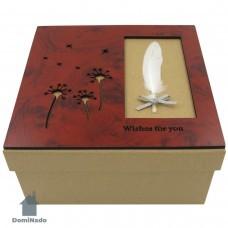 Коробка  подарочная из картона арт.10-1601-3
