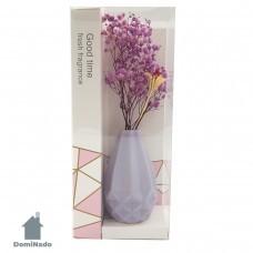 Цветы искусственные в вазочке из полимерных материалов  Арт.XH197